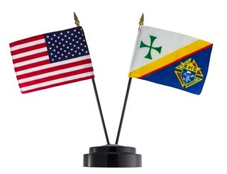 US Flag & KC Flag with stand