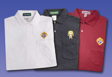 No. 14485 - K of C Golf Shirt with Pocket