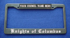 License/Tag Plate Holder: Council or Assembly