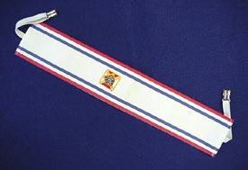 No. 4E - Social Baldric with Elastic Fasteners