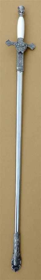 No. 4F/W - Etched Sword with White Handle for New Uniform