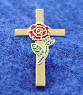 No. 52 - Rose/Cross Pin