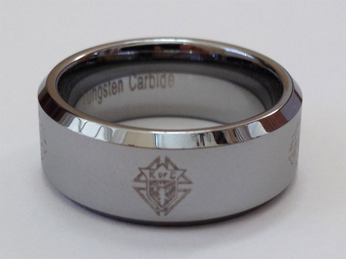 No. BTR-706 - NEW! KofC Laser Etched Tungsten Carbide Ring