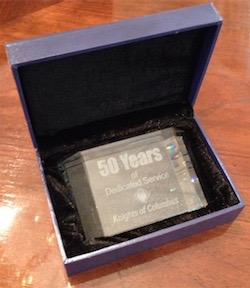 No. CRY76 - Clear Crystal Years of Service Award