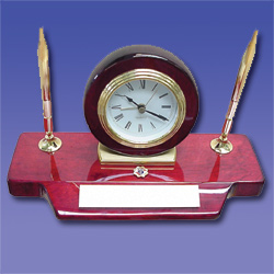 No. GF4881 - Rosewood Clock & Pen Set