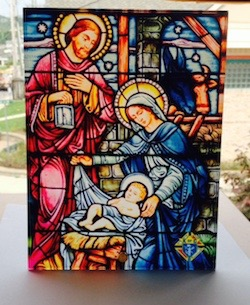 No. GN200 - Glass Nativity Scene with KofC emblem