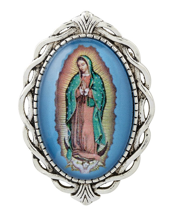 Our Lady of Guadalupe Ornate Lapel Pin