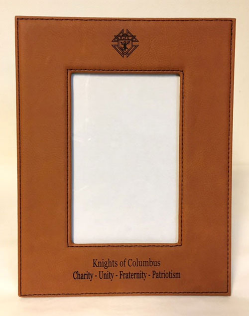 No. LLF346 - KofC Leatherette Picture Frame