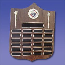No. P-2363 (BK) - Perpetual Torch Plaque