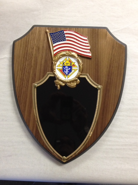 U.S. Flag Plaque with Emblem of the Order