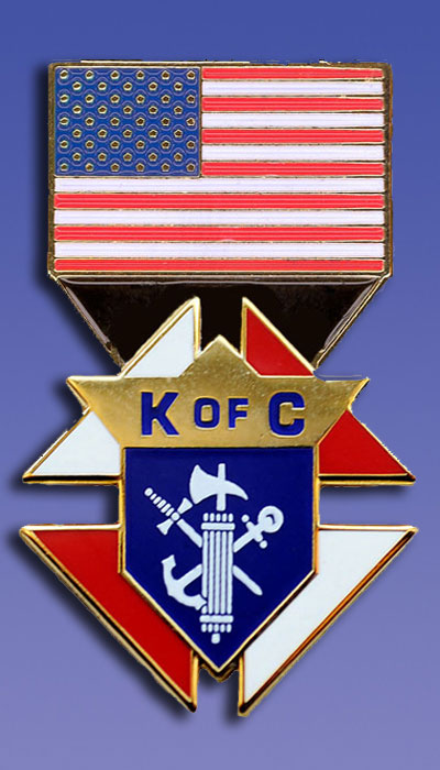 "No. PG746-USA - USA Flag Emblem of the Order (1"")"
