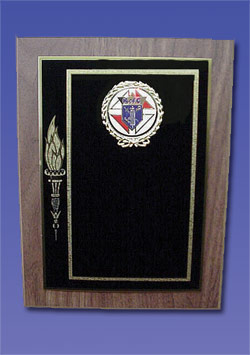 Gold Torch Plaque