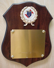 Large Shield Plaque