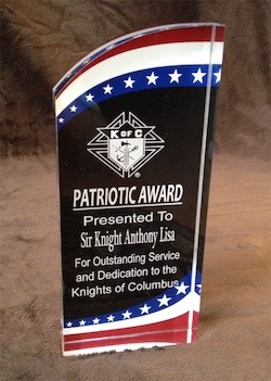 No. RMS8SS - Stars and Stripes Acrylic Patriotic Award