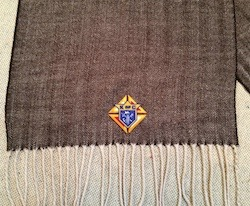 KofC Herringbone Plaid Scarf