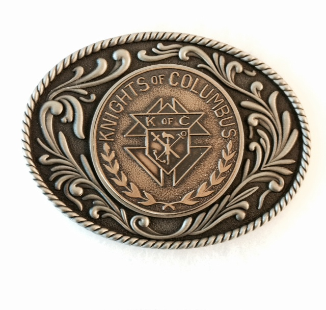 No. 6440KC - Western KofC Buckle