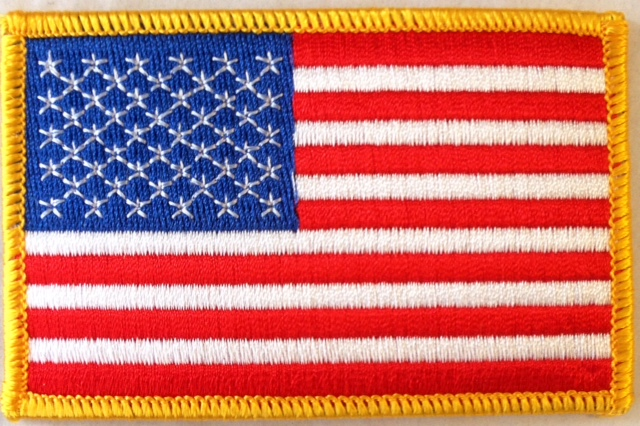 No. F112 - U.S. Flag Patch