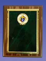 1508 - Green Marble Plaque