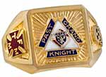 No. R743PGK - PAST GRAND KNIGHT RING with Diamond & Solid Back