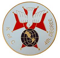Aluminum Emblem 4th Degree