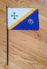 KC-FLAG - KofC Flag on black dowel