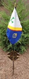 2180K - Memorial Grave Marker with KofC Flag