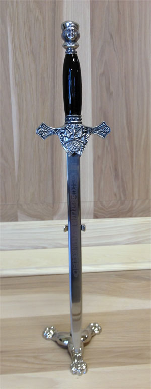 No. 411 - Sword Letter Opener (Black or White Handle)