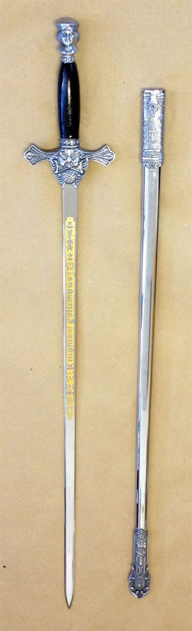No. 4F - Etched Sword with Black Handle for New Uniform
