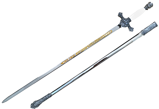Etched Sword with WHITE Handle