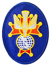 4T - 4th Degree Embroidered Oval Emblem