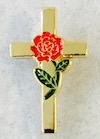 52 - Rose/Cross Pin