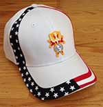 585-WHITE - U.S.A. Cap with 4th Degree Emblem