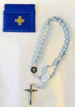 675C - Ladies Columbiette Rosary with Case