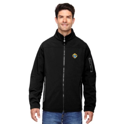 88138BLACK - Men's Three-Layer Fleece Soft Shell Jacket