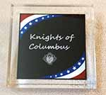 APW44SS - Stars and Stripes Acrylic Paper Weight