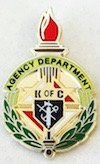 "No. 130AD - KofC Agent Pin (1"")"