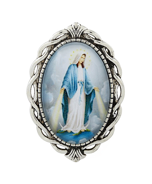Blessed Mother Ornate Lapel Pin