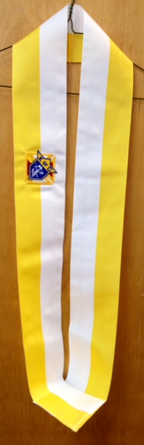 No. C2 - Ceremonial Sash - Gold & White