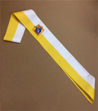 Ceremonial Sash - Gold & White