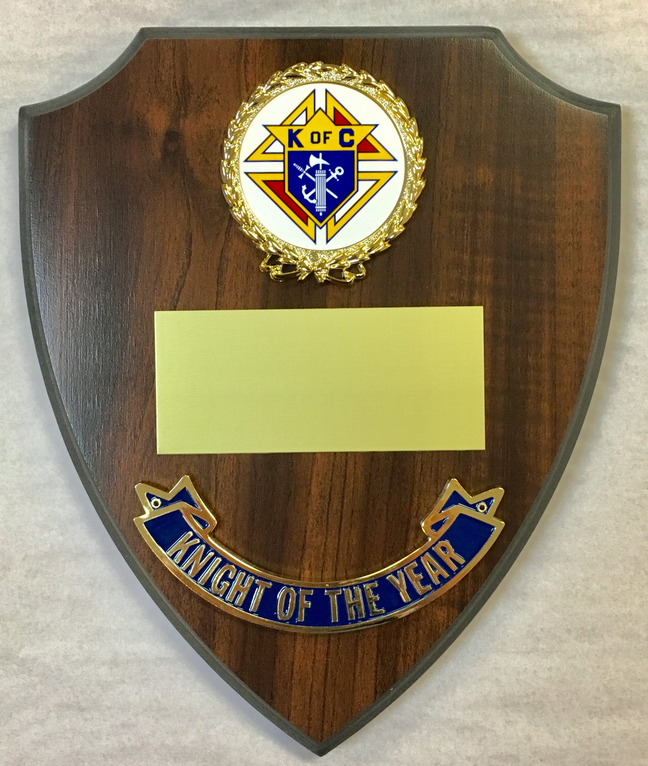 Knight of the Year Shield Plaque