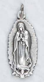 ON32 - Our Lady of Guadalupe Medal on Silver Chain
