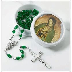 Our Lady of Guadalupe Rosary with Two Piece Case