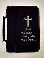 "No. GTF287CUSTOM - ""Design it your way"" Black Leatherette Bible Cover"