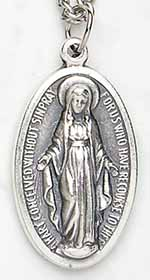 ON31 - Miraculous Medal on Silver Chain