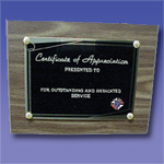 No. P-10K - Appreciation Plaque