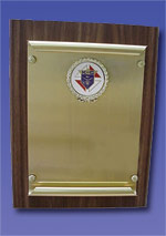 No. P-4D - Scroll Plaque