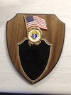 No. P-1A - U.S. Flag Plaque with Emblem of the Order