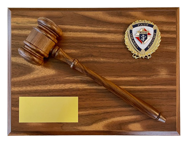 P-7G - Past Grand Knight Plaque with gavel