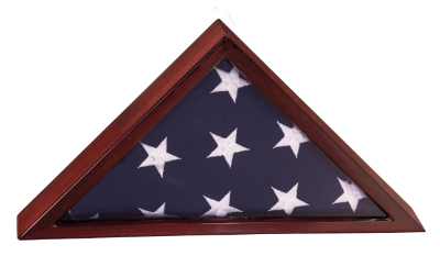 Rosewood Piano Finish Flag Display Case