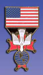 "USA Flag/ Fourth Degree (1"")"